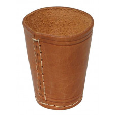 Dice cup of genuine leather