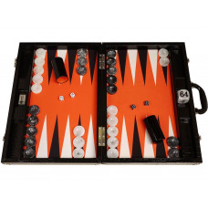 Backgammon Set Proffs XL Wycliffe Brothers in Black (0100)