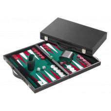 Backgammon Board L, Standard in Green