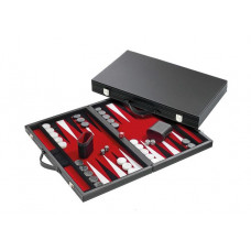 Backgammon Board M, Classic in Red