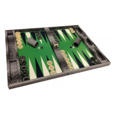 Backgammon Complete Set Mr Stylish Snake in Gray XL (8691)