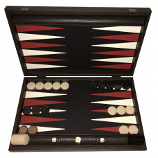 Backgammon Board in Wood & Leatherette Strogyli L
