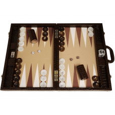 Backgammon Set Proffs XL Wycliffe Brothers in Brown (0170)