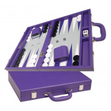 Silverman & Co Favour M Backgammon Board in Purple (4129)
