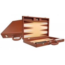 Silverman & Co Premium L Backgammon Board in Brown