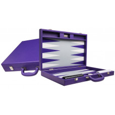 Silverman & Co Premium L Backgammon Board in Purple