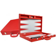 Silverman & Co Premium L Backgammon Board in Red