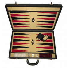 Backgammon Board XL Popular Beige 45 mm Stones (1022)