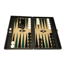 Backgammon set M Popular 36 mm Stones BL-BE-BL-GR
