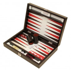 Backgammon Set Proficient M Genuine Leather in Brown