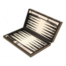 Backgammon Set Classy M Genuine Leather in Black