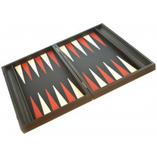 Backgammon Board in Wood & Leather Nikouria L (1991)