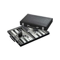 Backgammon Board M, Classic X in Gray