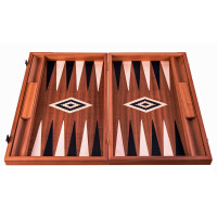 Backgammon Board in Mahogany Hermes L