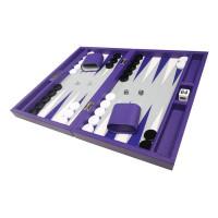 Silverman & Co Smooth  Backgammon in Purple