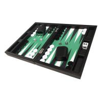 Silverman & Co Smooth  Backgammon in Black - Green