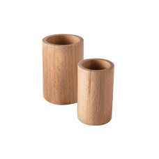 Round Backgammon Dice Cups of Wood Natural 2 sizes