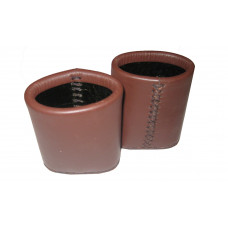 Backgammon Leather Dice Cups Oval in Brown
