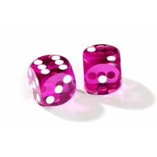Official Precision Dice for Backgammon 13 mm Purple
