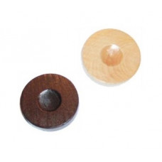 Backgammon Stones made of Pinewood Diam 26 mm (5126)