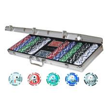 Poker complete set in aluminium Professional