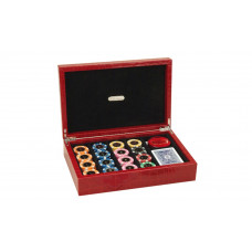 Poker complete set Exclusive Genuine Leather