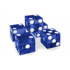 Casino Precision Dice Set of 5 Serial Numbered in Blue