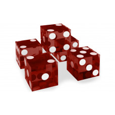 Casino Precision Dice Set of 5 Serial Numbered in Red