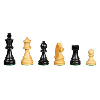 Wooden Chessmen hand-carved Arcadius black KH 77 mm
