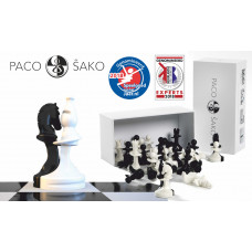 Chess Pieces Solidarity Paco Sako in Black & White