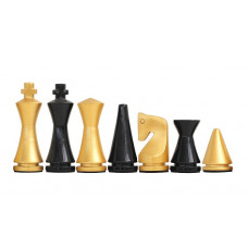 Modern Chess Pieces Glossy Golden KH 75 mm