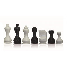 Modern Chess Pieces Glossy Gallant KH 95 mm