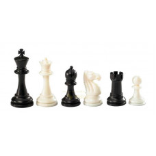 Chess Pieces Plastic Nerva in Black and White KH 95 mm