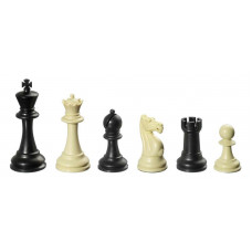 Chess Pieces Plastic Nerva in Black and Ivory KH 95 mm