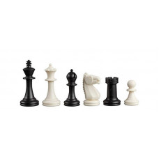 Chess Pieces Plastic Nerva in Black and White KH 76 mm