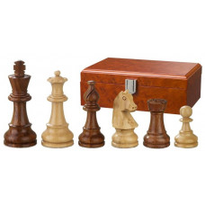 Wooden Chess Pieces Hand-carved Sigismund KH 95 mm (2066)