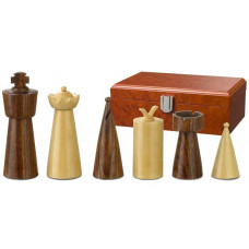 Wooden Chess Pieces 90 mm Modern Style Galba