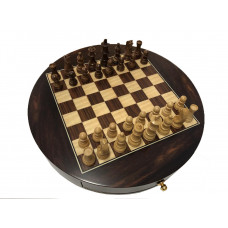 Chess Set Sober Round Not foldable