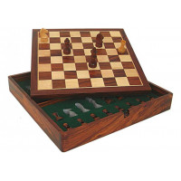 Wooden Chess Set Virgilian Magnetic FS 38 mm
