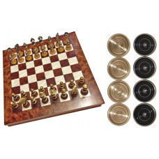 Chess & Draughts Not Foldable XL Elegant (72356)
