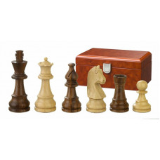 Wooden Chess Pieces hand-carved Titus KH 83 mm
