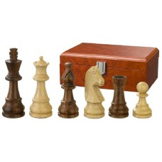 Wooden Chess Pieces hand-carved Titus KH 95 mm