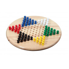 Chinese Checkers Game Standard M Hevea Wood (3113)