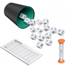 Rebus Dice with letters