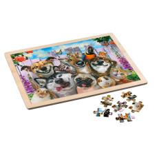 Puzzle Wooden 48 pieces - Pet Selfie